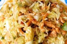 教你做簡單好做又好學的家常白菜炒肉絲,白菜爽脆肉絲嫩滑超下飯